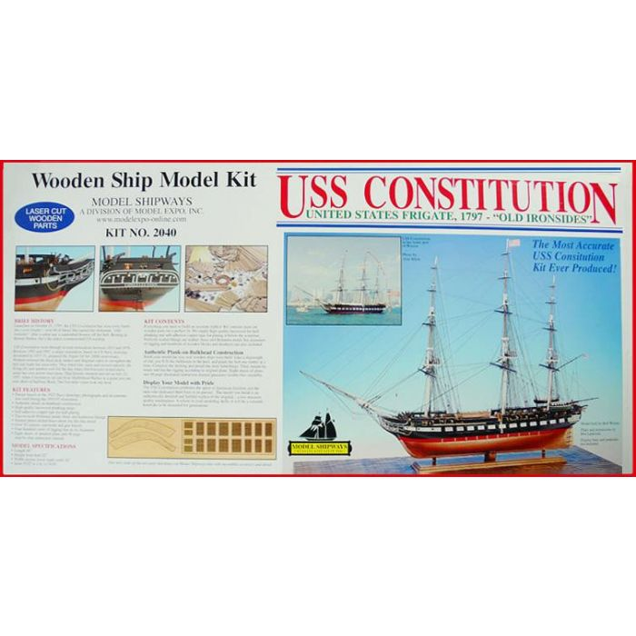 Uss Constitution 1 76 Scale Model Ship