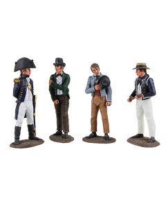 ''Pressed For Service'' - British Royal Navy Press Gang, 1805-1815 Metal Figurine Set