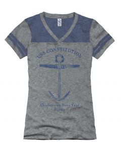 Girls ''Anchor'' V-neck Tee
