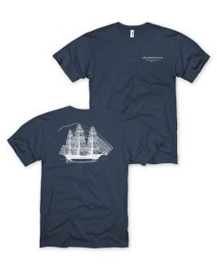 Adult Navy ''Ship'' Tee
