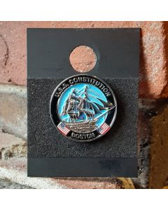 USS Constitution 3D Logo Lapel Pin