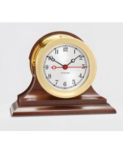 Brass Shipstrike Clock on Base