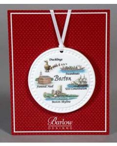 Boston Barlow Color Ornament