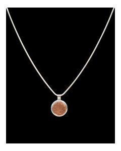USSC Copper Necklace: Round Silver Bezel Design