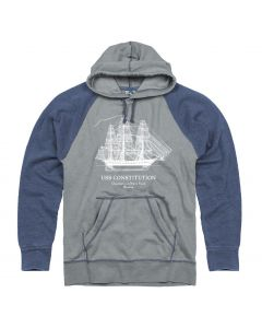 "Adult Heather Grey ""Ship"" Hoodie"