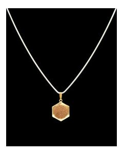 USSC Copper Necklace: Hexagon Brass Design