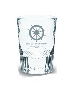 USS Constitution ''Helm'' Shot Glass