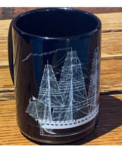 USS Constitution Line Drawing Mug