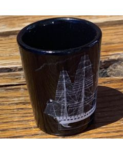 USS Constitution Line Drawing Shot Glass