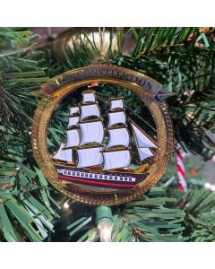 USS Constitution Brass Ornament