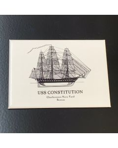 USS Constitution Line Drawing Magnet