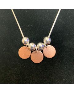 USSC Copper Necklace: Dangle Beads Design