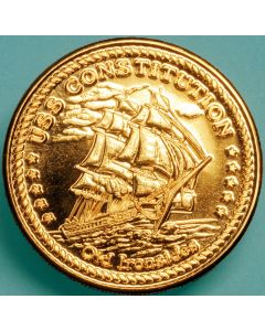 USS Constitution Brass Medallion