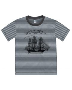 Youth Striped ''Ship'' Tee