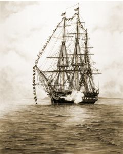 USS Constitution 18'' x 24'' Print (Unmatted, Unframed)