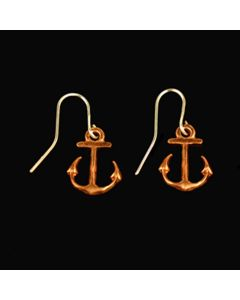 Copper Anchor Earrings