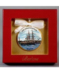 USS Constitution With Bunker Hill Ornament