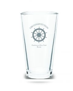 USS Constitution ''Helm'' Pint Glass