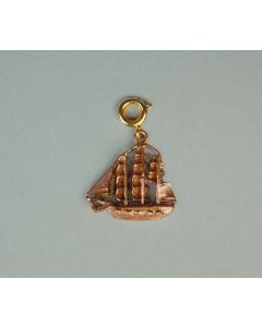 USSC Copper Charm: 3D USS Constitution